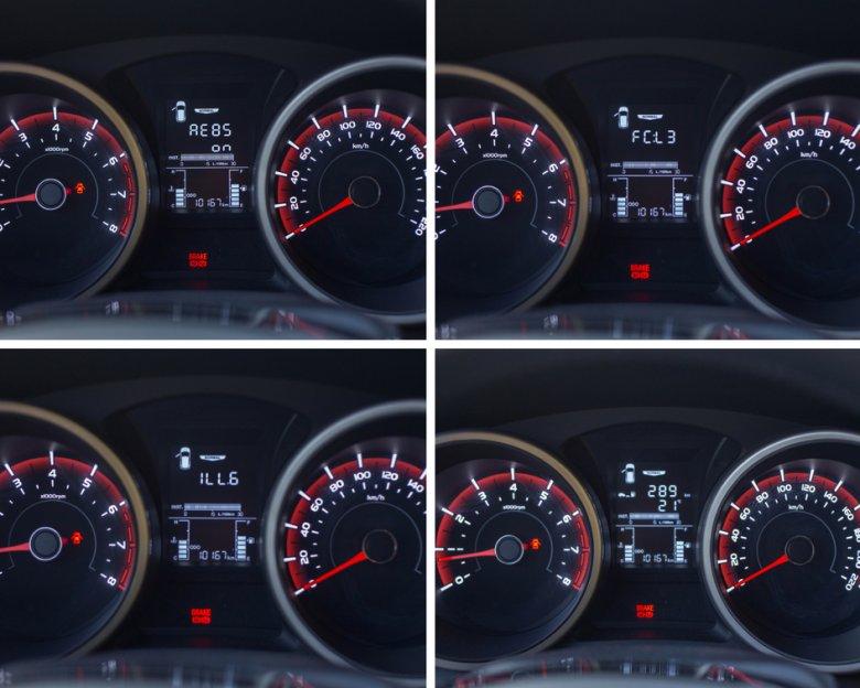 Komputer pokładowy może wskazywać choćby zasięg auta (jak na czwartym zdjęciu), albo... takie cuda.