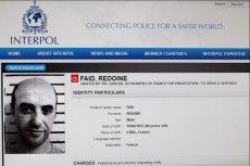 List gończy wystawiony za Redoine Faid'em przez Interpol.