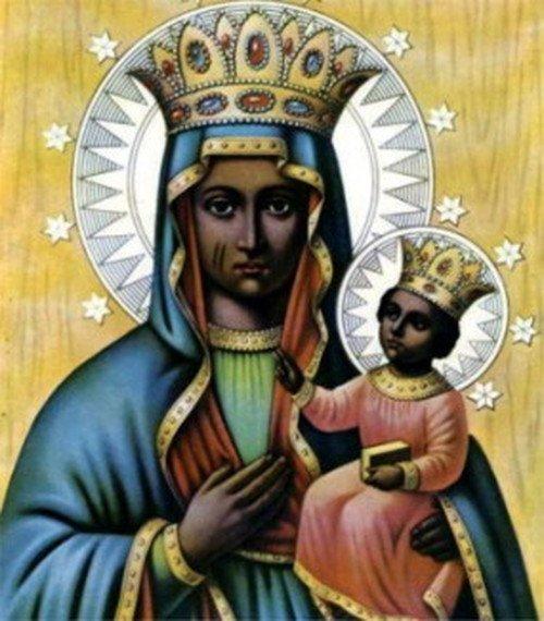 Erzulie Dantor, haitańska bogini czczona na podobieństwo Matki Boskiej Częstochowskiej.