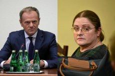 """Krystyna Pawłowicz o Donaldzie Tusku - """"zestrachany wyraz brzydkiej twarzy rudego niemieckiego szatniarza""""."""