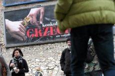 """Jeden z billboardów kampanii """"Konkubinat to grzech""""."""