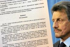 PiS złożył do laski projekt nowych przepisów dotyczących Trybunału Konstytucyjnego.
