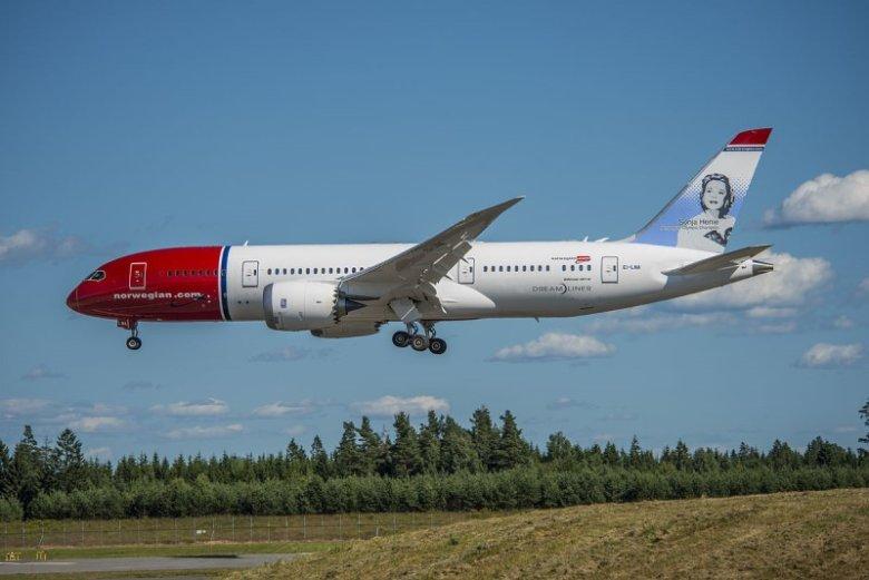 Boeing 787 w barwach linii Norwegian.