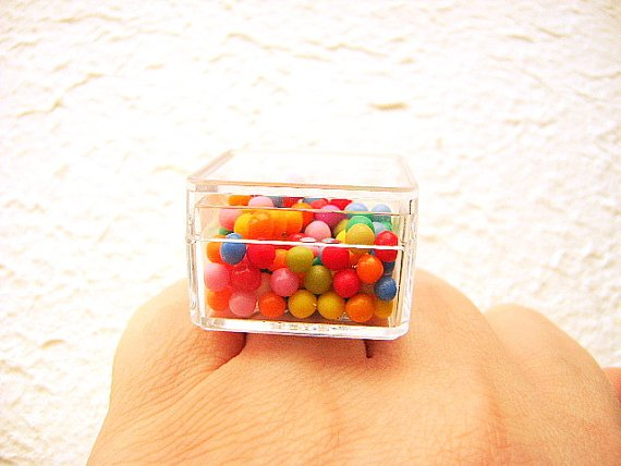 Kawaii Candy Ring Miniature Food Jewelry, projekt: SouZouCreations