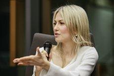 Magdalena Ogórek zasłynęła strojem reklamującym włoską markę.