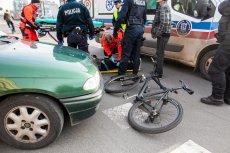 Rowerzyści często biorąudział w wypadkach drogowych.