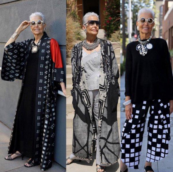 Audrey Stein to jedna z częściej fotografowanych bohaterek bloga Advanced Style