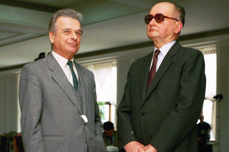 Czesław Kiszczak i Wojciech Jaruzelski.