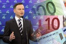 Czyżby Andrzej Duda strasząc euro trafił w dziesiątkę? To sugeruje najnowszy sondaż.