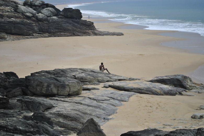 Wybrzeże Morza Arabskiego, okolice Vizhinjam i Kovalam, Indie