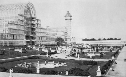 """Zdjęcie """"Kryształowego Pałacu"""" w Sydenham po którym nazwano klub piłkarski Crystal Palace"""
