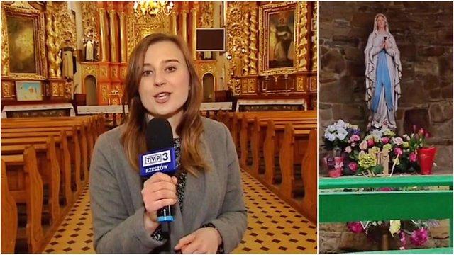 Zrzut ekranu. Na zdjęciu Natalia Chrapek TVP 3 Rzeszów.