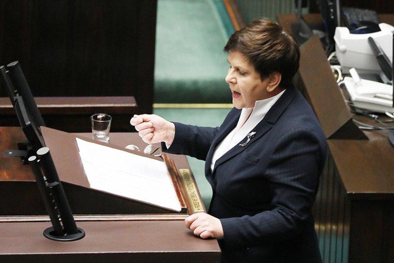 Wicepremier Beata Szydło wystąpiła w sejmie przeciwko pomówieniom.