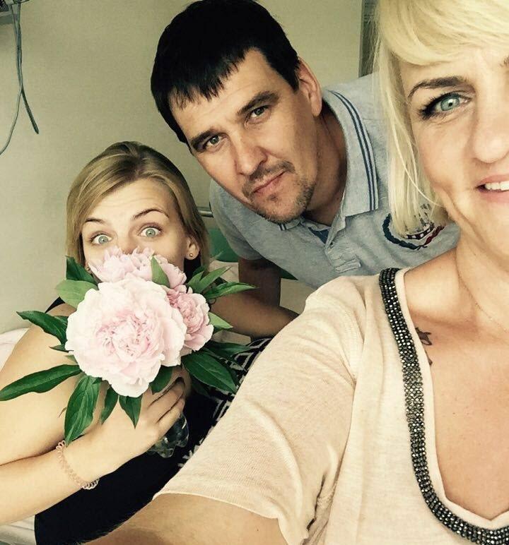 Ola (Dawczyni) z Rodzicami