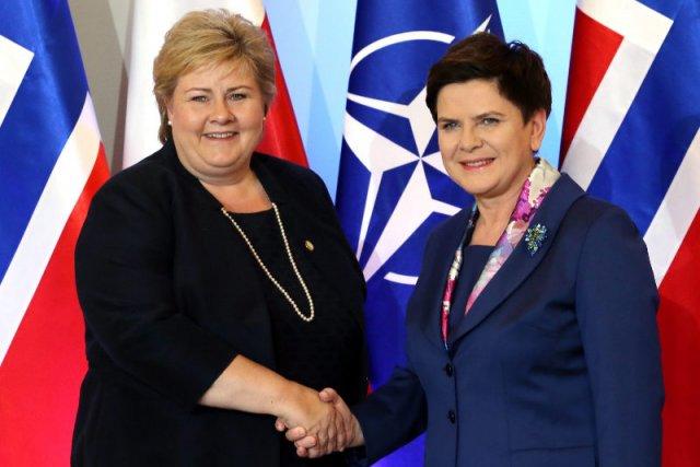 Erna Solberg nie zgadza się, żeby rząd Beaty Szydło przejął fundusz norweski.