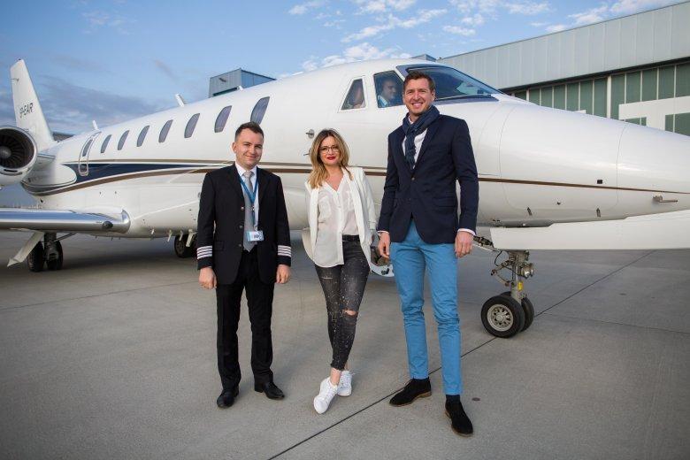Z pilotem Tomaszem Prokopem oraz Grzegorzem Wydmańskim z Jet Story.