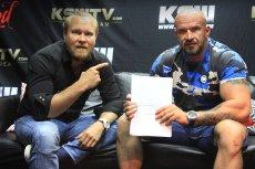 """Tomasz Oświeciński, znany z filmów z serii """"Pitbull"""" wystąpi na ringu KSW."""
