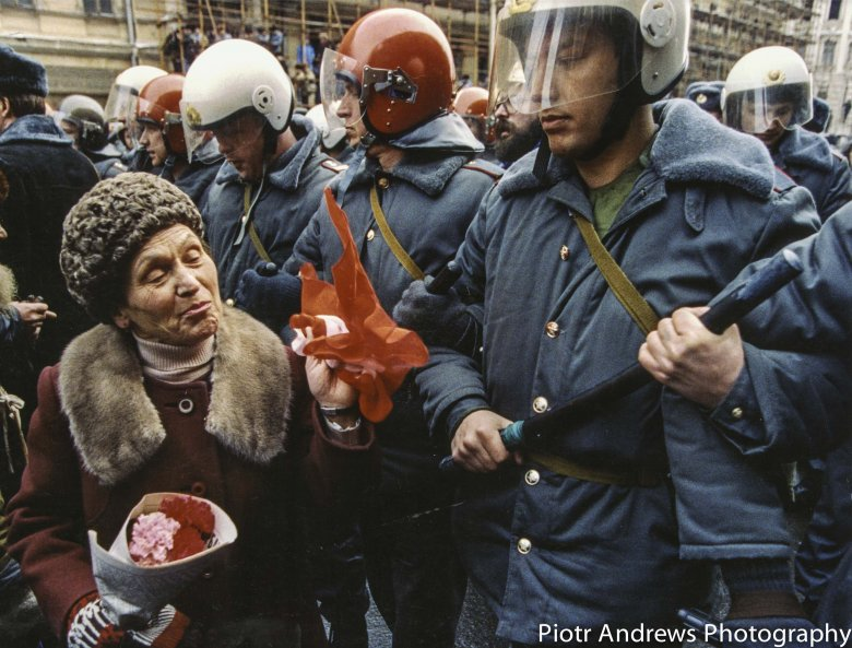 Demonstracja Komunistyczna Luty 1992.