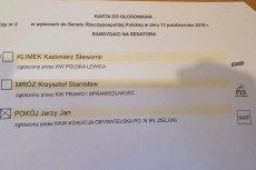 Na kartach do głosowania w okręgu nr 2 w Legnicy przy kandydacie KW Polska Lewica pojawiło się logo Lewicy, innego komitetu wyborczego.
