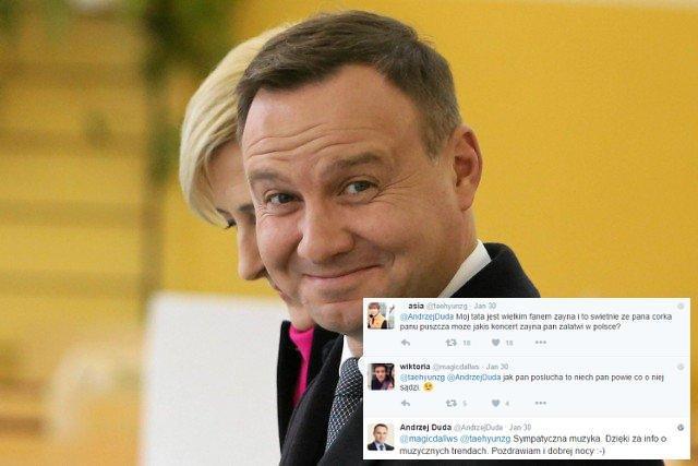 Andrzej Duda wie jak podbić serca nastolatków