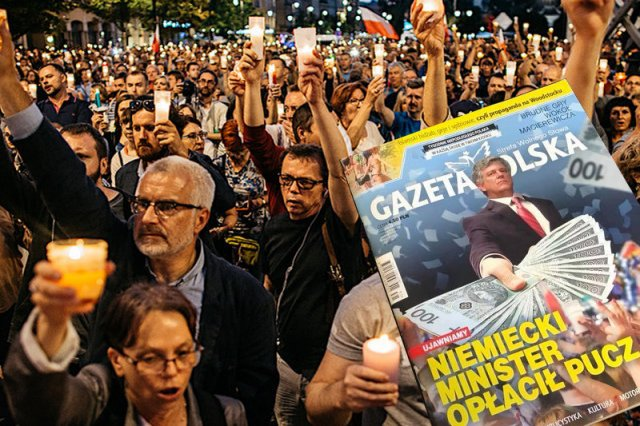 """""""Gazeta Polska"""" doszukała się powiązań fundacji """"Akcja Demokracja"""" z niemieckimi pieniędzmi i byłym wiceministrem finansów Niemiec.I strzelił jak kulą w płot."""
