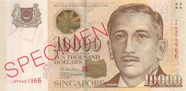 Najbardziej wartościowy obiegowy banknot na świecie - stan na marzec 2015