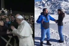 Matteo Salvini zadrwił z incydentu z udziałem papieża i wiernej na pl. św. Piotra.