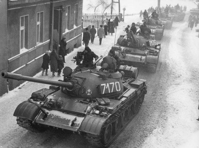 Czołg T55-AM - grudzień 1981, Polska