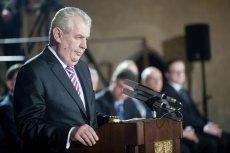 """Milosz Zeman, prezydent Czech, znowu ostro o fali migracji. Jest to według niego """"zorganizowana inwazja""""."""