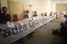 Protestujący uniemożliwilirozpoczęcie obrad KRS.