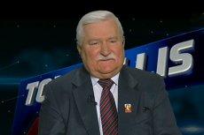 """Lech Wałęsa był gościem poniedziałkowego programu """"Tomasz Lis na żywo"""" na antenie TVP 2."""