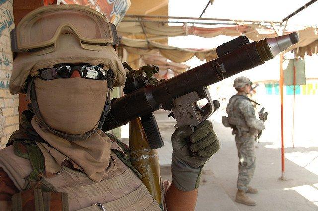 Amerykański żołnierz w Iraku, marzec 2008