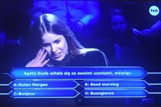 """To pytanie w """"Milionerach"""" o Agatę Dudę wywołało największe emocje w internecie."""