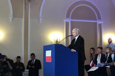Prezes PiS Jarosław Kaczyński był gościem kongresu Solidarnej Polski.