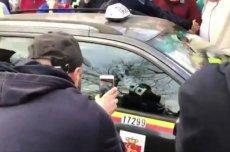 Protest taksówkarzy w Warszawie. Zaatakowano taksówkarza, który nie brał udziału w demonstracji.