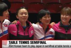 Jedna drużyna Koreanek z Północy i Południa.