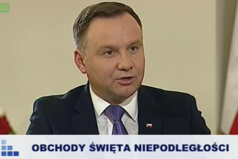 Andrzej Duda mówił o swojej koncepcji marszu gwiaździstego.
