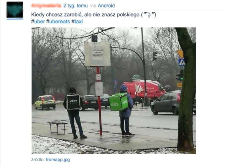 Hindusi pracujący w Uber Eats nie muszą mówić po polsku.