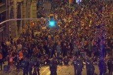 Zamieszki na ulicach w największych miastach Katalonii.