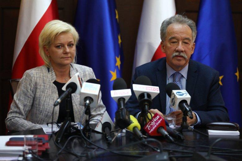 Beata Tokaj, szefowa Krajowego Biura Wyborczego i Wojciech Hermeliński, przewodniczący Państwowej Komisji Wyborczej.