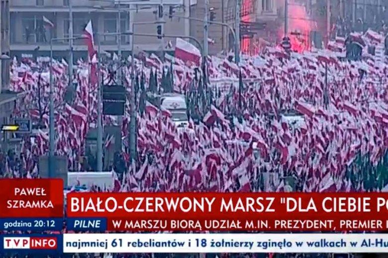 Telewizja publiczna pokazywała wyłącznie marsz prezydencki