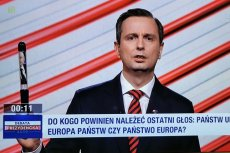 Wladysław Kosiniak-Kamysz przyniósł na debatę prezydencką do TVP długopis.