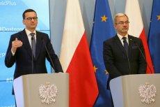 Mateusz Morawiecki i Jerzy Kwieciński przedstawili projekt budżetu na przyszły rok.