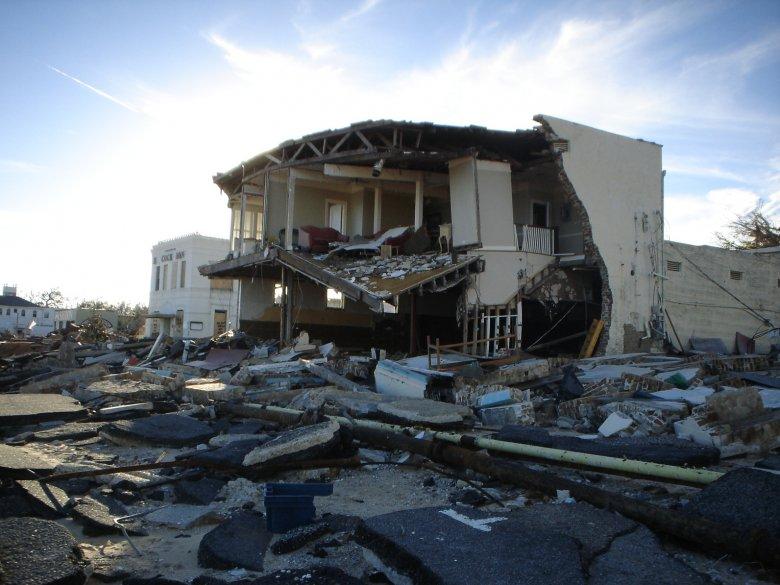 Jeden ze zniszczonych domów w czasie Katriny