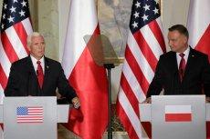 Andrzej Duda i Mike Pence zamiast mówić o wizach czy konkretnych umowach woleli opowiadać o huraganie.