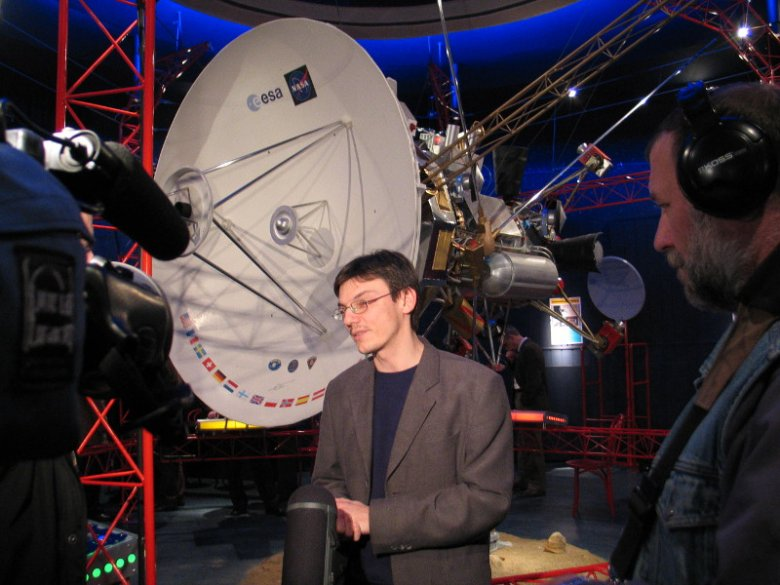 Jerzy Rafalski na co dzień pracuje w toruńskim Centrum Popularyzacji Kosmosu.