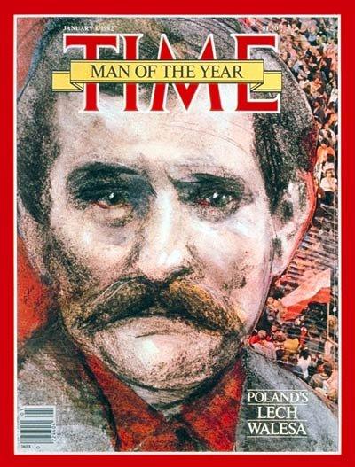 """Lech Wałęsa jako pierwszy wyróżniony przez tygodnik """"Time"""" Polak, pojawił się na jego okładce w 1981 roku."""