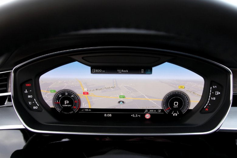 Virtual cockpit znany z innych modeli Audi.