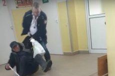 Pracownik ochrony siłą wyrzucił pacjenta ze szpitala, wlokąc go po ziemi.