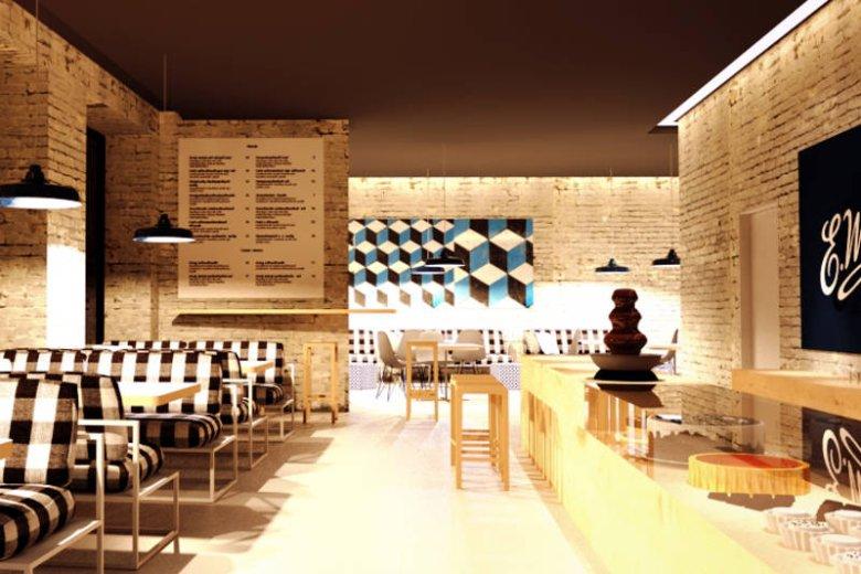 Zwycięski projekt pijalni czekolady Wedel przygotowali architekci ze studia Kobe.